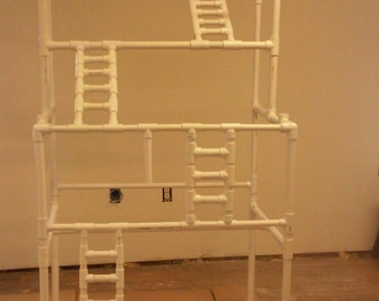 Bird play gym stand #7 with 4 climbing ladders. Birds love playstands. FREE SHIPPING.