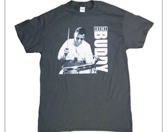 "Bernard ""Buddy"" Rich in the classic snare drum photo vertical T Shirt New"