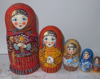 Russian doll Matryoshka Easter