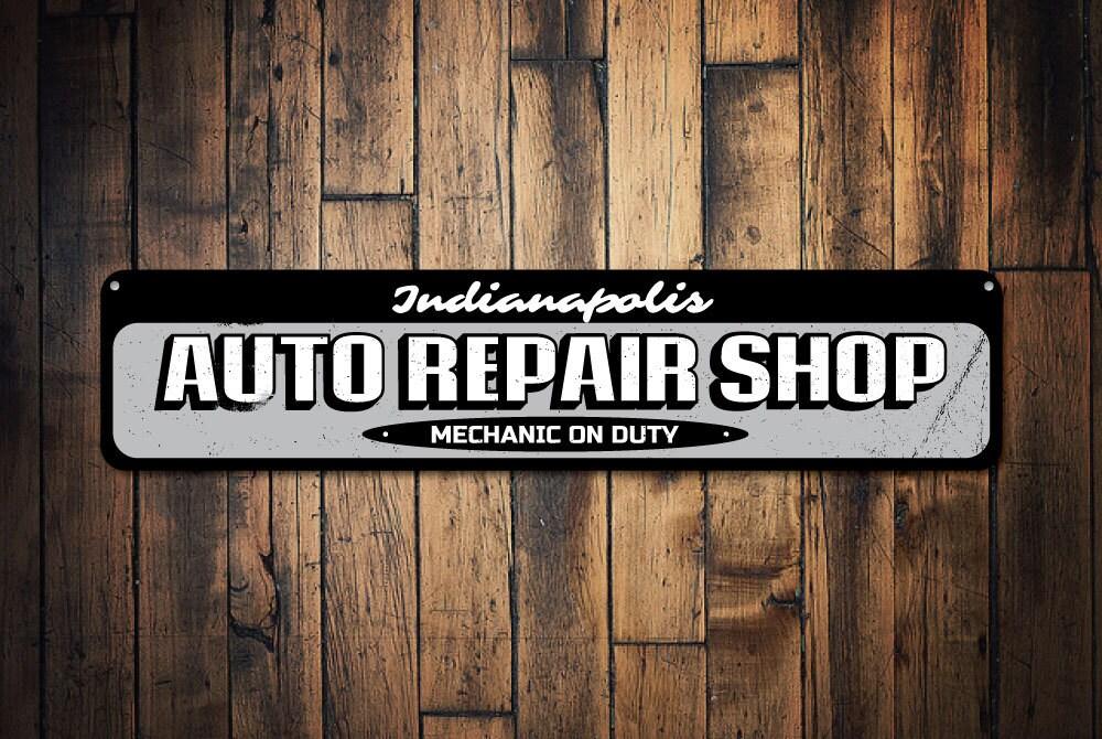 Automotive Repair Signs : Auto repair shop sign personalized garage location city