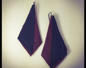 Recycled Leather Earrings