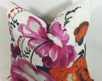 "Designer Guild Amrapali- Colour Peony Cushion Cover 16""x16"" Fabric Both Sides Of Cushion"