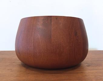 Early Dansk Designs Staved Teak Tulip Salad Bowl | Jens Quistgaard IHQ 1960s | Danish Modern Mid Century Modern
