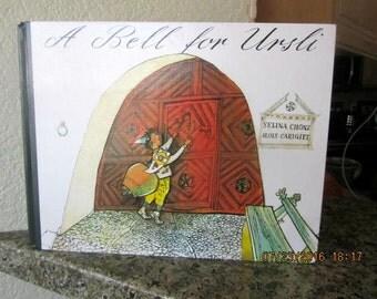 A Bell for Ursli 1989 Switzerland  book illustrated children's story hardcover vintage
