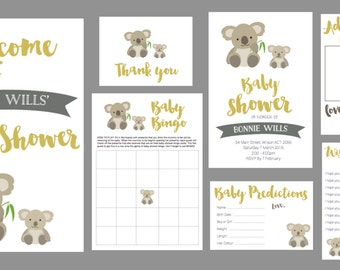 Personalised Baby Shower Invite set
