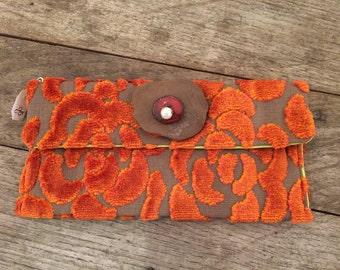 Pochette en tissus de créateur avec céramique (11)