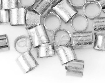 App 750 Silver Tube Crimp Beads, Brass,2x2x2 mm, Hole Size 1.5mm,20g,Jewelry Making Supply, Wholesale, Free Shipping CP0019