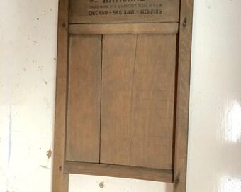 National Washboard Co 785 Junior Washboard Wood