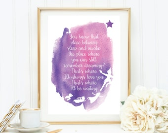 Peter Pan Quote Downloadable