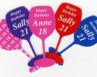 Personalised  Table Confetti, Wine Glass shape, any colour, any wording.