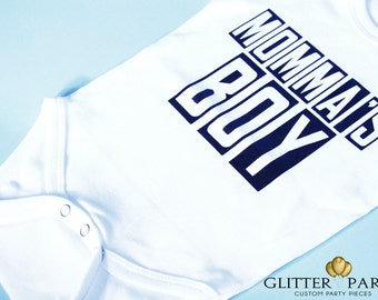 Momma's Boy Onsie/Shirt- Custom designed trendy kids shirts by The Glitter Party