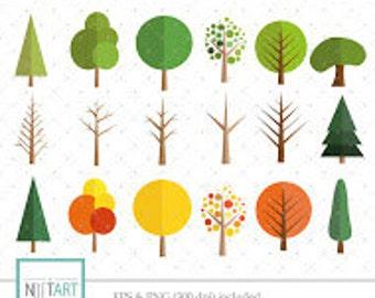 Tree clipart , plant  clipart, vector graphics, autumn clipart, digital images - CL 103