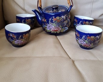 JAPANESE TEA POT with 4 teacups