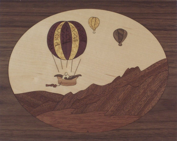 "4""x 5"" Marquetry Project Kit - Balloons"
