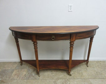 Sherrill Occasional CTH Banded Demi Lune Sideboard Buffet Console Server Bar