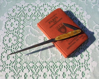 1930s Paper Knife with Penknife by Wybert.  Vintage Letter Opener with knife.
