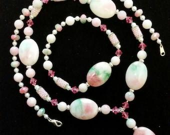 Candy Jade Necklace and Bracelet Set