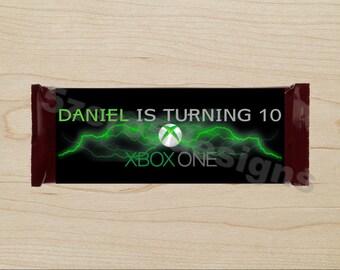 Xbox candy wrapper, Xbox Birthday Party, Xbox Party, Gamer Party, Gamer candy wrapper, DIGITAL DOWNALOAD