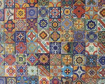 "100 Tiles Mexican Talavera Tiles 2x2 Various Designs 2 X 2"" Mixed Patterns"