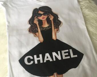 Chanel Black Dress T-Shirt