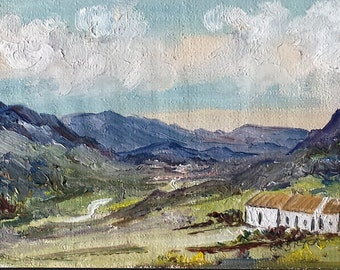 Original Oil Landscape - Bunglas, County Donegal, Ireland signed by the Artist Pat Bryor- Free Shipping