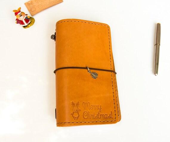 Christmas Gift Planner: Travelers Notebook Christmas Gift Planner Notepad Midori