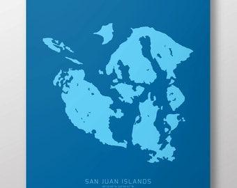 """San Juan Islands 14"""" x 20"""" Print"""