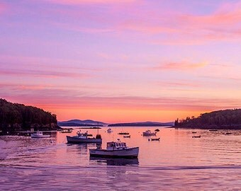 A6 Greeting Card – Sun Rise Bar Harbor, Maine- 105mm x 148mm (blank inside)- with envelope, photo greetings card, fine art card