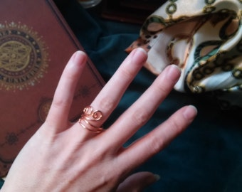 Adjustable Ring, Sealed Copper Wire