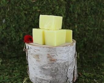 Pineapple Sugar Scrub Squares 4oz - Exfoliating Sugar Scrub Cubes - Spa Party Favors, Spa Gift, Tropical Body Scrub Soap - Wedding Favors
