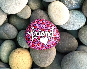 """Hand Painted """"FRIEND"""" Stone"""