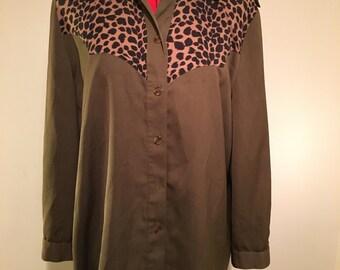 Safari leopard print shirt