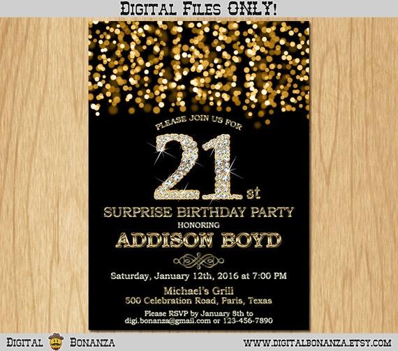21st birthday invitation gold glitter party invitation elegant il570xn filmwisefo Gallery