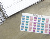 24 Coffee Cup Stickers - Planner Stickers, Perfect for Erin Condren and other Life Planners