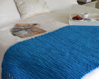 Blue/Strong Blue Throw blanket