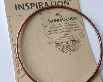 "Nunn Design Antique Copper or Antique Gold 2.75"" Small Dome Bangle x1"