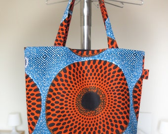 Small bag in wax (African fabric) psychedelic!