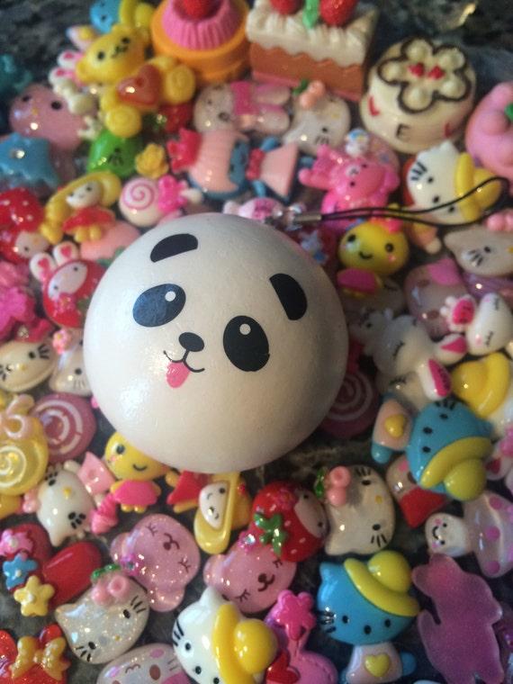 Panda Bun Squishy Mini : Kawaii Mini Panda Bun Squishy Charm VER.2 by KickinItKawaiii