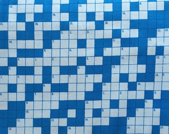 Moda, Bungle Jungle, Blue, crossword puzzle fabric, Tim and Beck