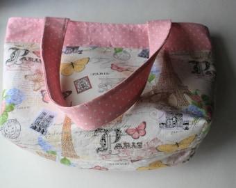 Paris Pink Polkadot Tote