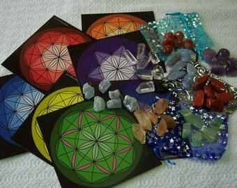 Chakra Balancing Sacred Stone Grid Kit