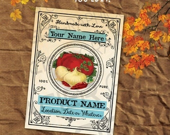 9 Homemade Salsa Labels Editable Gift Tags Salsa Labels Salsa Tags Salsa Printable Collage Sheet Salsa Gift Tag Canning Labels Download