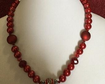 La'Faye Regal Designs by Dana Red Regal Beaded Necklace