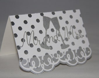 Mr. & Mrs. Card, Wedding Card, Engagement Card, Wedding Shower Card.