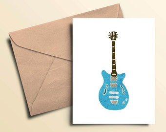 Blues Guitar Note Cards – Boxed Set of 10 With Envelopes