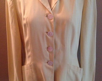 1940's Suit Jacket Buttercup Yellow