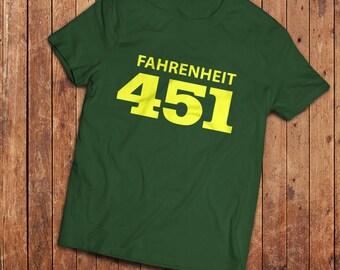 Fahrenheit 451 T-Shirt. Ray Bradbury classic book tee