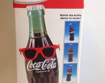 NIB 1991 Takara Bopping Coke Coca Cola Dancing Bottle Moves to Music Novelty Toy