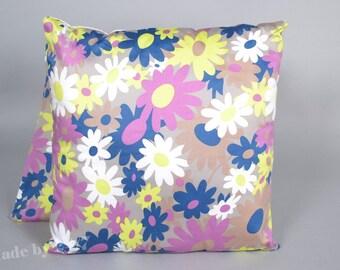 "40 x40 cm ( 16"" x 16"" )  Handmade Pillow cover flower power retro  - mid century Throw - Cushion cover space age - 70's"