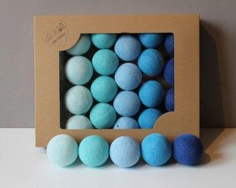 Cotton Balls Blue 10 items